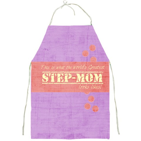 Step Mom By Brooke Adkins (my Time Scraps)   Full Print Apron   Nb1d0t6bu5i7   Www Artscow Com Front
