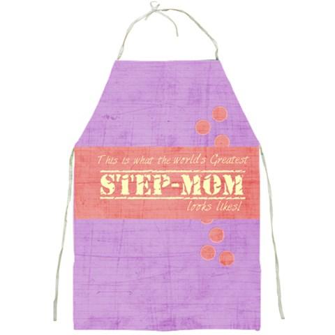 Step Mom By Brookieadkins Yahoo Com   Full Print Apron   Nb1d0t6bu5i7   Www Artscow Com Front