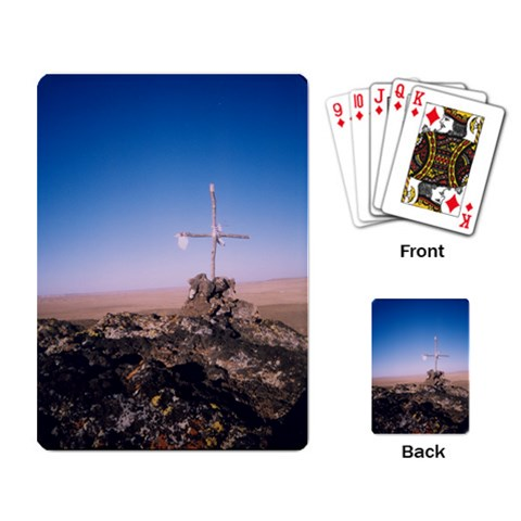 Cross On The Mountain By Melinda   Playing Cards Single Design   Jgdaan77hpy1   Www Artscow Com Back