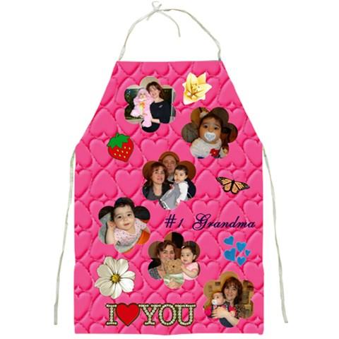 Apron Grandma By Shoshana   Full Print Apron   Ra3eba8x4zik   Www Artscow Com Front