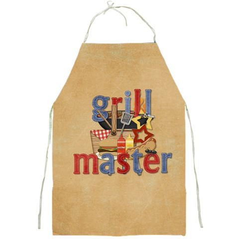 Grill Master Apron By Sheila Irish   Full Print Apron   Kbbviewqpcf5   Www Artscow Com Front