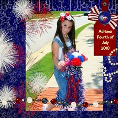 4thhaleyadriana By Renee   Scrapbook Page 8  X 8    Lk0dympgpby1   Www Artscow Com 8 x8 Scrapbook Page - 2