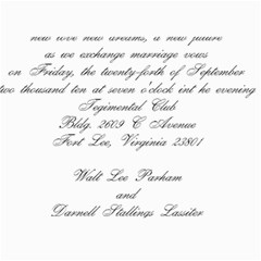 Walt/darnell Wedding  By Walt Parham   5  X 7  Photo Cards   Yay4zuqhok3v   Www Artscow Com 7 x5 Photo Card - 5