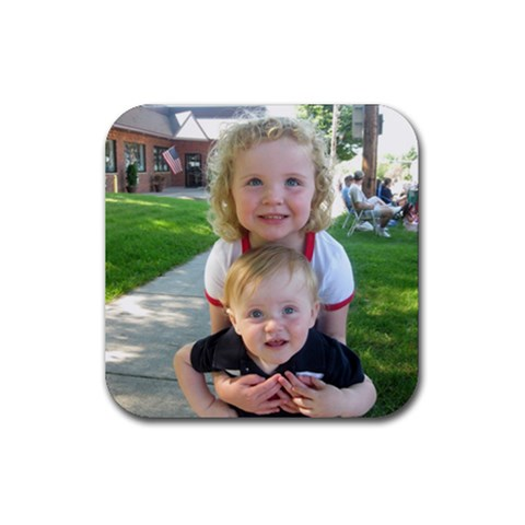 Kailey And Andrew By Sue Wylie   Rubber Coaster (square)   Pfd18v1qq2eh   Www Artscow Com Front
