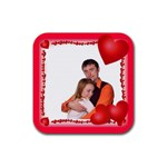 Love Love - Rubber Square Coaster (4 pack)