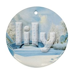 Lily Ornament By Lily Hamilton   Round Ornament (two Sides)   Swx1l6p1rsix   Www Artscow Com Back