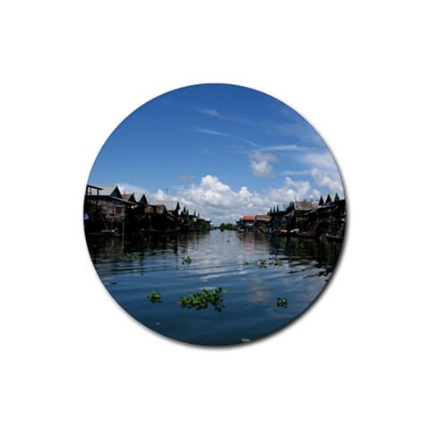 Floating Village Coaster By Cayley   Rubber Coaster (round)   05pt8e306hvk   Www Artscow Com Front