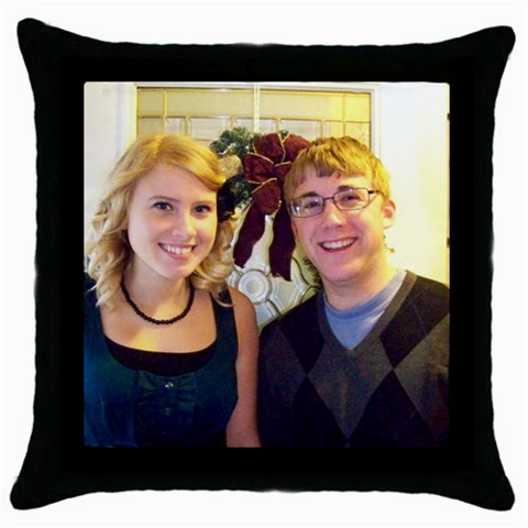 Pillow By Lisa    Throw Pillow Case (black)   2plruhwusvp8   Www Artscow Com Front