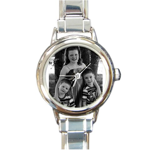 Personalized Watch By Cris Moore   Round Italian Charm Watch   Ow7szwzpjoci   Www Artscow Com Front
