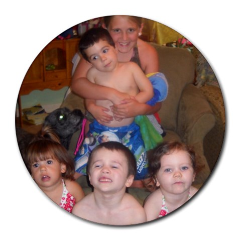 Mouse Pad My Babies By Cheryl R Transou   Round Mousepad   Zph3vhz0l0mn   Www Artscow Com Front