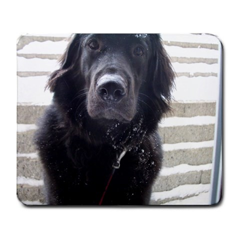 Snowy Dog By Kk   Collage Mousepad   82m2qt1own83   Www Artscow Com 9.25 x7.75 Mousepad - 1