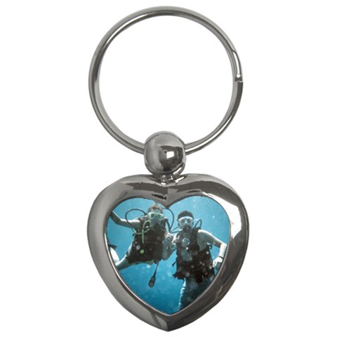 Shannon & Jack Diving Keychain By Christine   Key Chain (heart)   Xzxzt8t9ln9l   Www Artscow Com Front