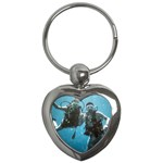 Shannon & Jack diving keychain - Key Chain (Heart)