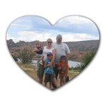 Mousepad picture of our first family hike - Heart Mousepad