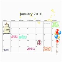 My 18m Calendar By Jem   Wall Calendar 11  X 8 5  (18 Months)   W55fkw7ibkzq   Www Artscow Com Jan 2010