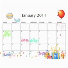 My 18m Calendar By Jem   Wall Calendar 11  X 8 5  (18 Months)   W55fkw7ibkzq   Www Artscow Com Jan 2011