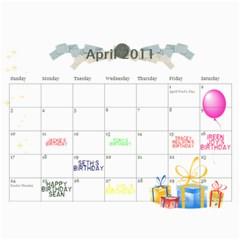 My 18m Calendar By Jem   Wall Calendar 11  X 8 5  (18 Months)   W55fkw7ibkzq   Www Artscow Com Apr 2011