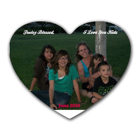 Mouse Pad Of Me And The Kids June 2010 By Kami Cadle   Heart Mousepad   W3xhhbp05h7p   Www Artscow Com Front