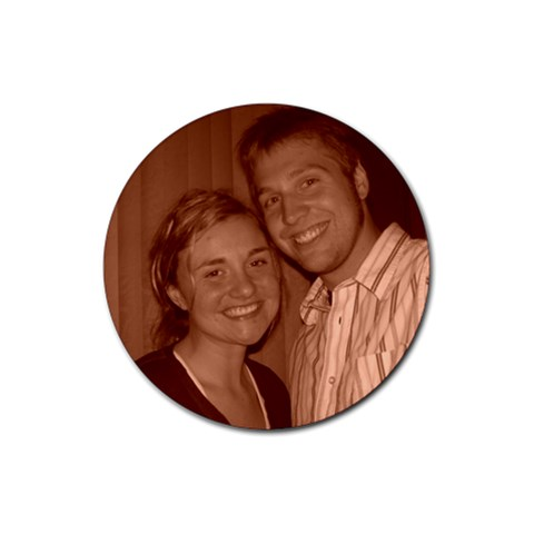 Deedra & Justin By Zre   Rubber Coaster (round)   V4c6fgjhaoea   Www Artscow Com Front