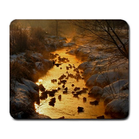 Landing In The Creek By Martha Fillion   Large Mousepad   1vcg4wb77qzp   Www Artscow Com Front