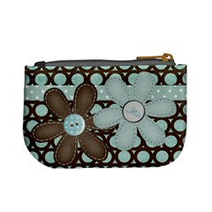 Blue Brown By Jodi   Mini Coin Purse   Per97rrpi8x3   Www Artscow Com Back