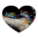 I love Frogs - Heart Mousepad