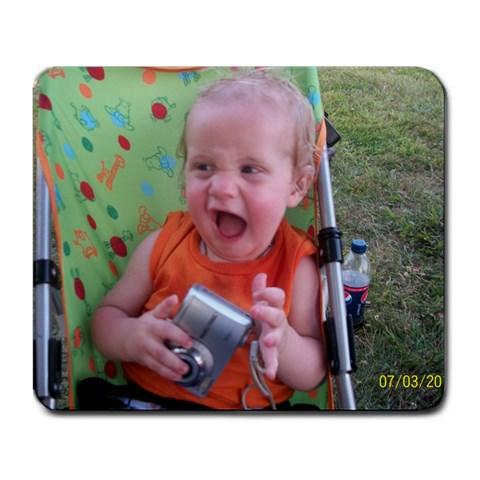 Aydden s Cheesy Face  By Mid L Clifford   Large Mousepad   Sb4zxn92s7lh   Www Artscow Com Front