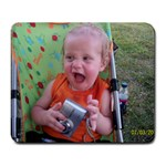 Aydden s cheesy face  - Large Mousepad
