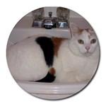 kiki in the sink - Round Mousepad