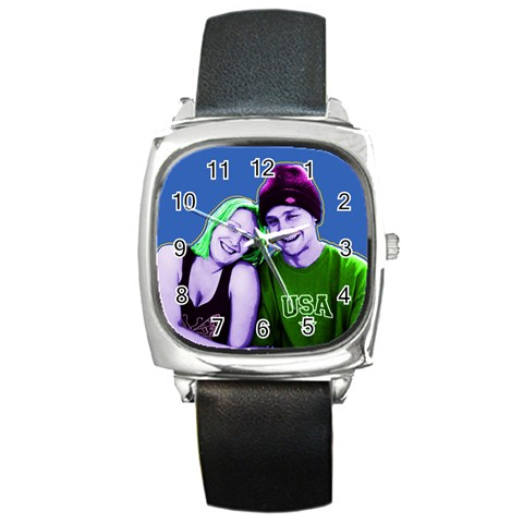 By Penny   Square Metal Watch   Yr493w4t2b8t   Www Artscow Com Front