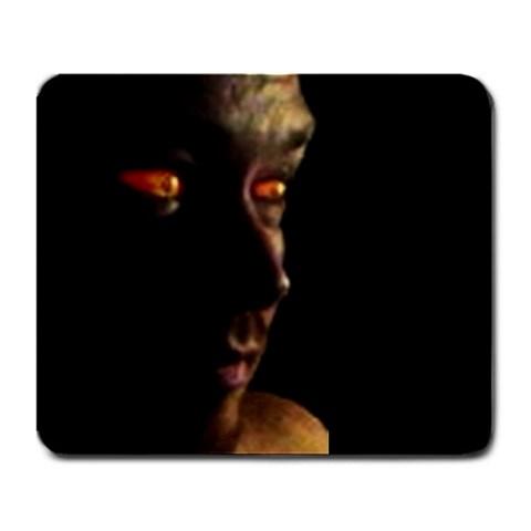 Orange Eyes By Fyrebush   Large Mousepad   V5ljzdhqirg1   Www Artscow Com Front