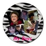 boys mousepad - Collage Round Mousepad