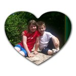 Big sis & little brother - Heart Mousepad