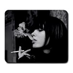 Smoking Girl - Large Mousepad