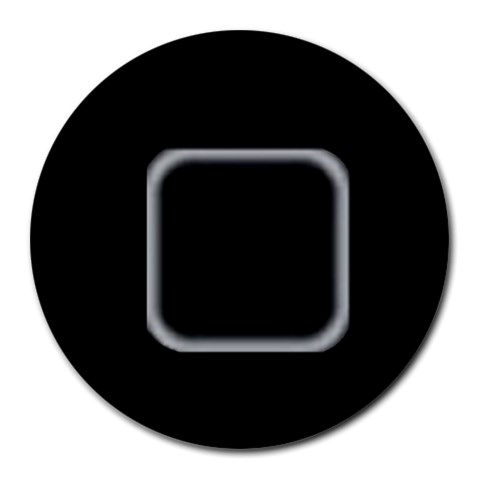 Home Button By Harman Malhi   Round Mousepad   1sfb0yarpzu7   Www Artscow Com Front