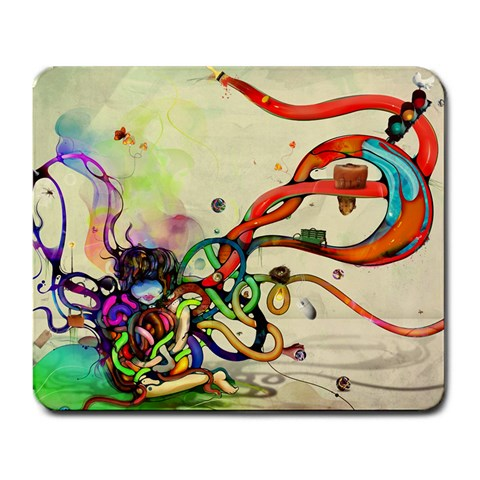 A Mess By Annjolisa Lee   Large Mousepad   Gd2m8mw24kg9   Www Artscow Com Front