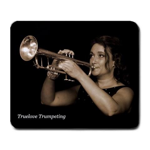 Truelove Trumpeting By Rhonda Slinkosky   Large Mousepad   Kjdqwdayehkz   Www Artscow Com Front