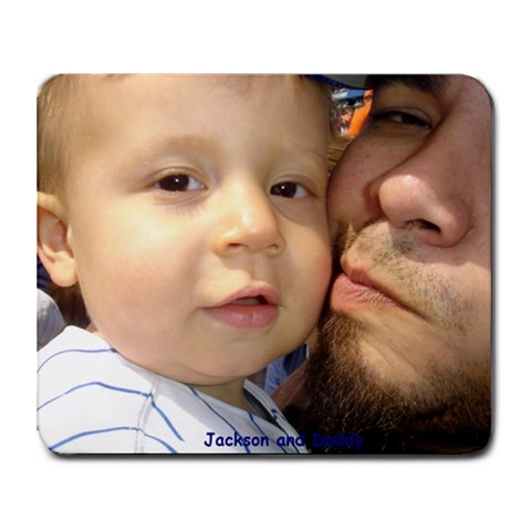 Jackson And Daddy By Debra Montes   Collage Mousepad   X7x8e12q4t3h   Www Artscow Com 9.25 x7.75 Mousepad - 1