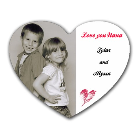 Ty And Alyssa By Diana Montgomery   Heart Mousepad   M1ynuoukgwmq   Www Artscow Com Front