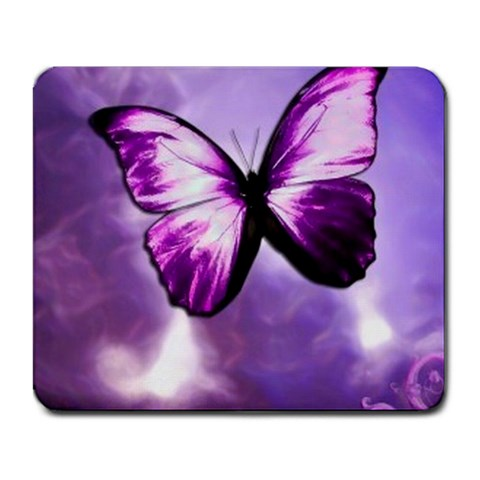 Lilac Butterfly By Mandy Robinson   Large Mousepad   Fnqlzeqr8o7b   Www Artscow Com Front