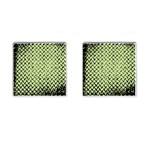 Green Diamond Plate - Cufflinks (Square)