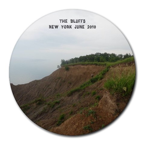 The Bluffs By Dawn Young Fobes   Collage Round Mousepad   Gtaftdyzt6dz   Www Artscow Com 8 x8 Round Mousepad - 1