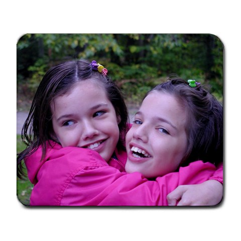 Me And My Twin! By Rebecca Rose   Large Mousepad   Iolbyxavoe96   Www Artscow Com Front