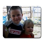 Jake and Carson, pre-Ryan - Large Mousepad