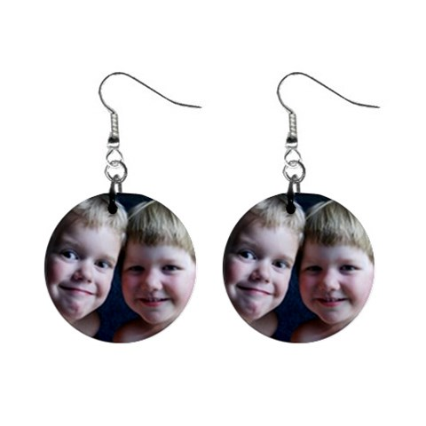 My Kids On Earrings! By Marybeth Lynn   1  Button Earrings   Fw4icxnbj4rn   Www Artscow Com Front