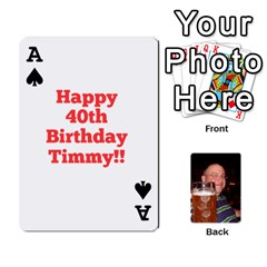 Ace Timmy Cards By Kelly Corder   Playing Cards 54 Designs   U8mfcx8c1kd1   Www Artscow Com Front - SpadeA