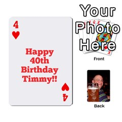 Timmy Cards By Kelly Corder   Playing Cards 54 Designs   U8mfcx8c1kd1   Www Artscow Com Front - Heart4