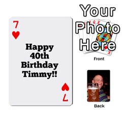 Timmy Cards By Kelly Corder   Playing Cards 54 Designs   U8mfcx8c1kd1   Www Artscow Com Front - Heart7