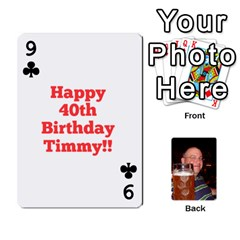 Timmy Cards By Kelly Corder   Playing Cards 54 Designs   U8mfcx8c1kd1   Www Artscow Com Front - Club9