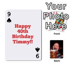 Timmy Cards By Kelly Corder   Playing Cards 54 Designs   U8mfcx8c1kd1   Www Artscow Com Front - Spade9